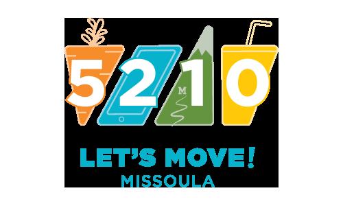 5-2-1-0 Let's Move! Missoula Logo